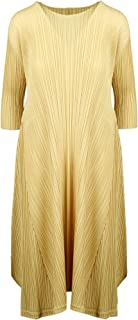 PLEATS PLEASE ISSEY MIYAKE Luxury Fashion Womens PP06JH59653 Yellow Dress | Spring Summer 20