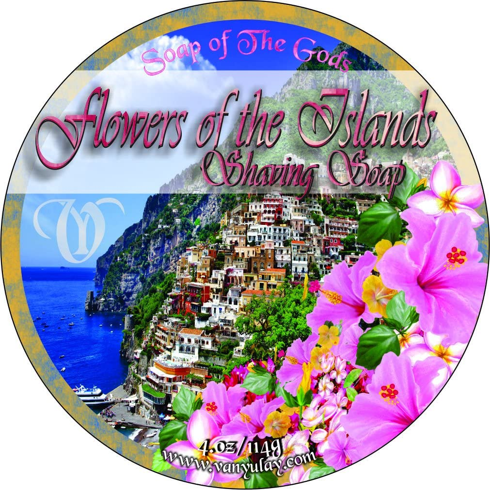 Shaving Soap of the New mail order Max 57% OFF Gods 4.oz Islands The Flowers