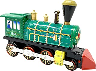 Off the Wall Toys Wind Up 1850 Clockwork Train Locomotive Model Tin Toy Collectible Gift Home Decor