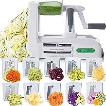 Spiralizer Ultimate 10 Strongest-and-Heaviest Duty Vegetable Slicer Best Veggie Pasta Spaghetti Maker for Keto/Paleo/Glute...