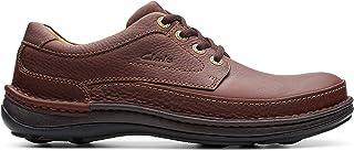 حذاء جلدي بابزيم للرجال من كلاركس، مقاس 9.5 UK, (بني), 9.5 UK