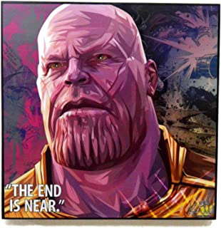 Pop Art Marvel Movie Quotes [ Thanos ] Infinity War Framed Acrylic Canvas Poster Prints Artwork Modern Wall Decor, 10