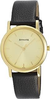 Sonata Analog Gold Dial Men's Watch -NJ7987YL01W