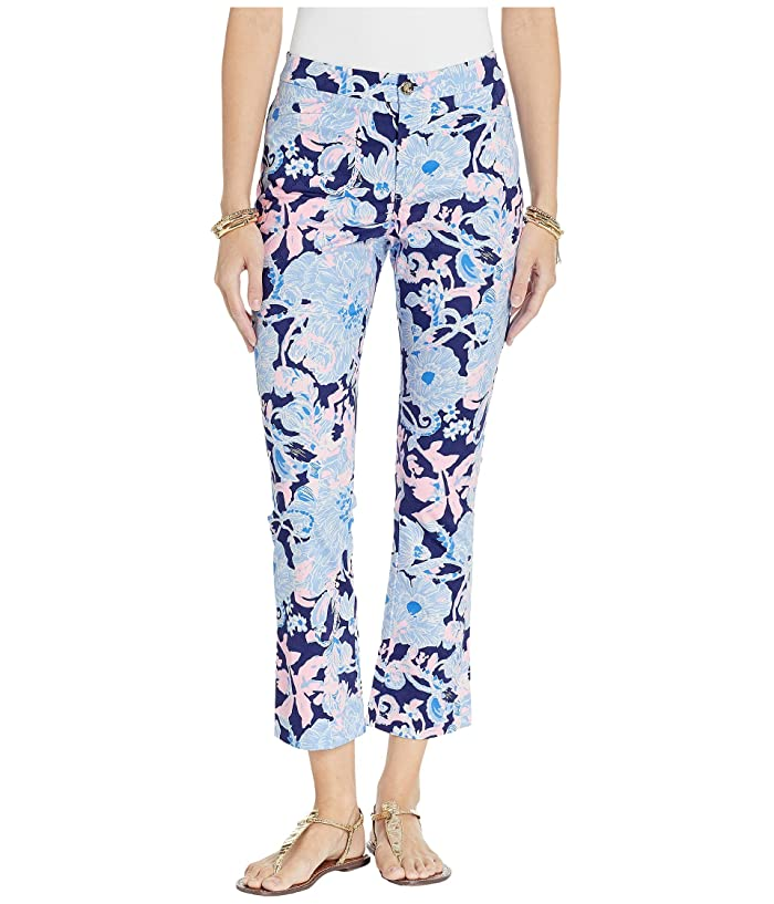 Lilly Pulitzer Kelly High-Rise Crop Flare Pants (Bright Navy Amore Please) Women