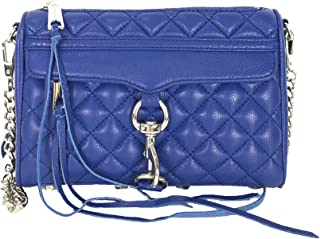 Quilted Leather Mini M.A.C. Clutch Crossbody, Royal Blue