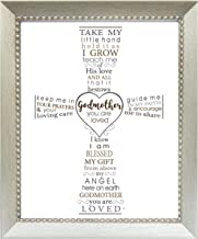 You are Loved Typography Frame - Gift for Godmother/Godfather/Godparents (Godmother)