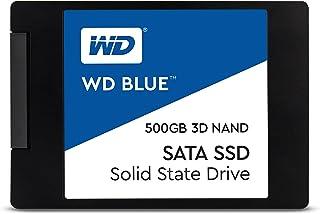 """WD Blue 3D NAND 500GB Internal PC SSD - SATA III 6 Gb/s, 2.5""""/7mm, Up to 560 MB/s - WDS500G2B0A"""