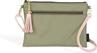 Logan + Lenora Convertible Clutch - Waterproof Travel Clutch with Detachable Crossbody Strap