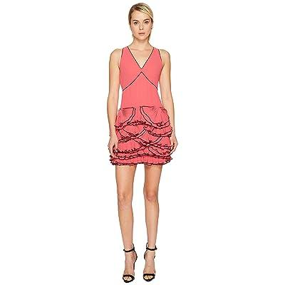 Boutique Moschino Georgette Ruffle Dress (Pink) Women