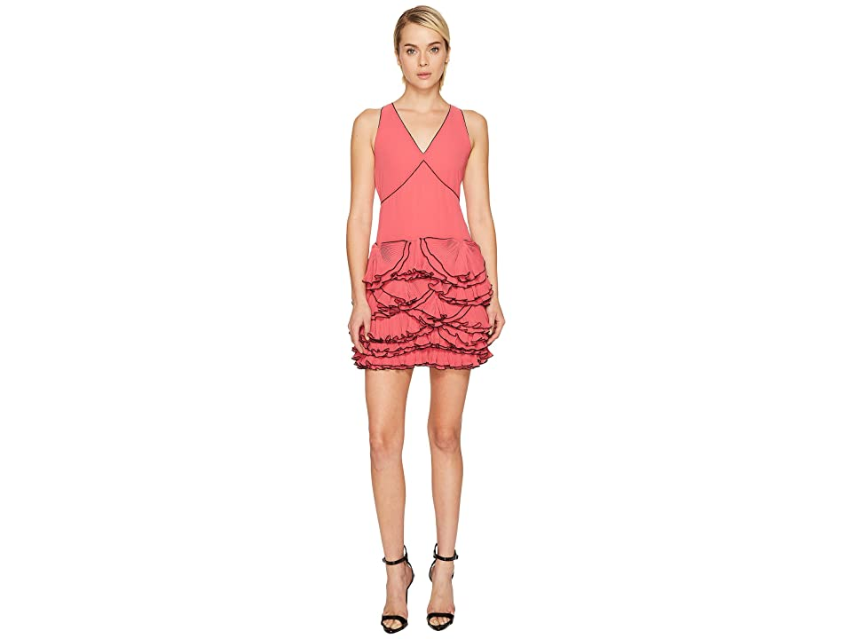 Boutique Moschino Georgette Ruffle Dress (Pink) Women