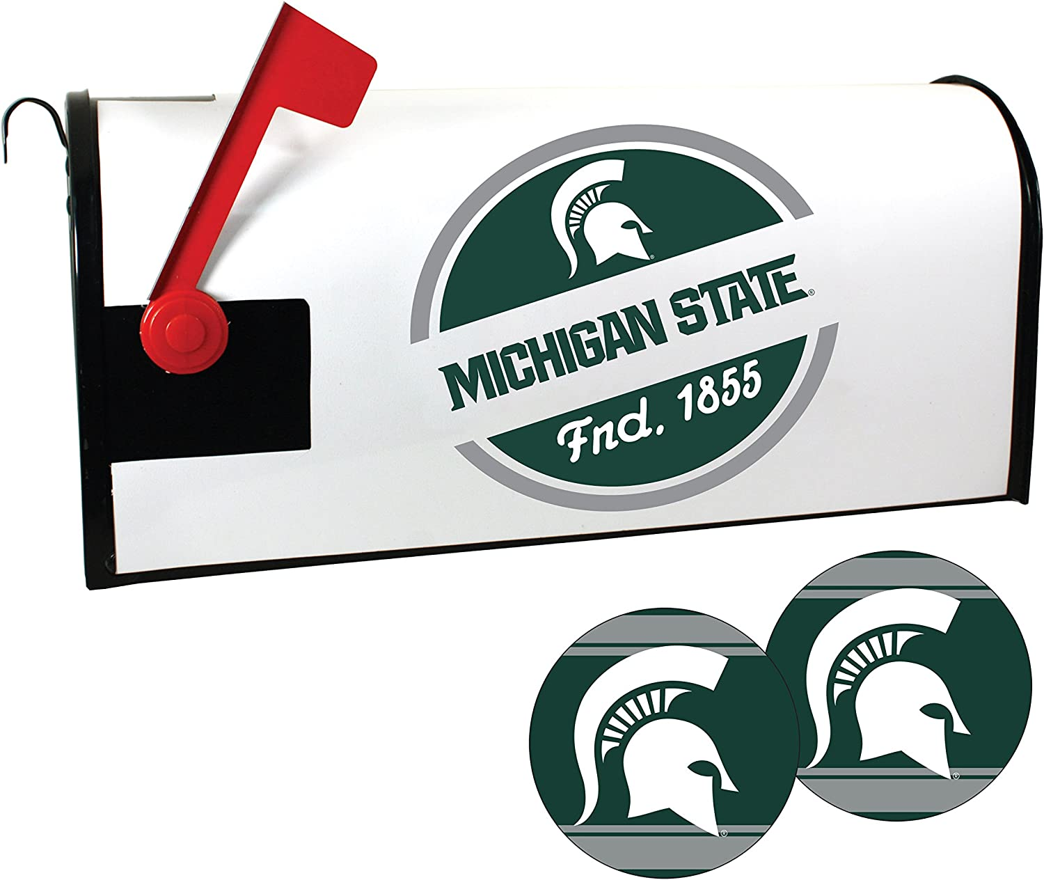 Michigan State Spartans Magnetic Mailbox and Set Under blast sales Cover Sale item Sticker
