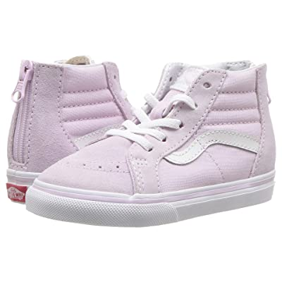 Vans Kids Sk8-Hi Zip (Infant/Toddler) (Lavender Fog/True White) Girls Shoes