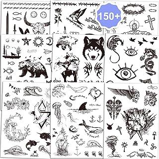 Qpout Temporäre Tattoos für Erwachsene Männer Frauen Kind