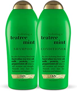 OGX Hydrating + Tea Tree Mint Shampoo & Conditioner, 25.4 Ounce (Set of 2)