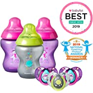Tommee Tippee Closer to Nature Boldly Go Decorated Gift Set with 6-Piece Baby Bottles & 6-18...