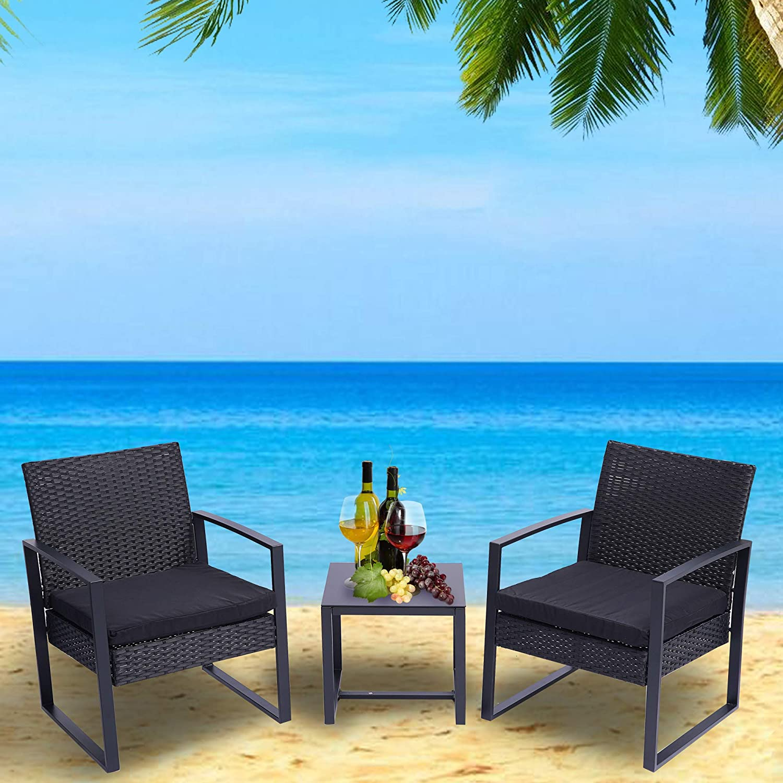Yileiduo Dedication 3 Pieces Patio Set Wicker Sets Regular discount Outdoor Furniture