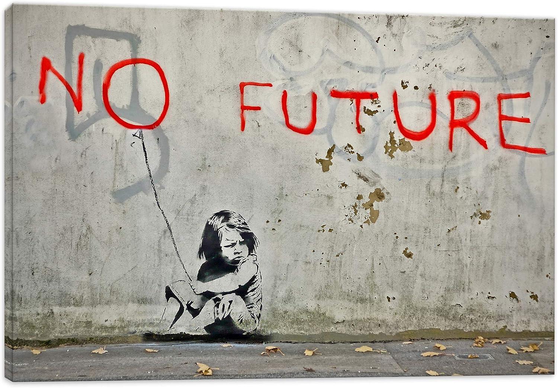 Kunstbruder Banksy No Future Impression sur Toile montée sur Toile montée  sur châssis 2 cm, No Future, 50 x 70 cm: Amazon.fr: Cuisine & Maison