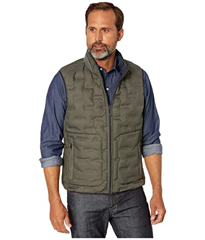 BUGATCHI Melton Sleeveless Reversible Vest (Olive) Men
