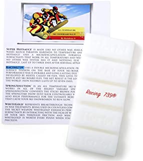 Racing 739 All Temperature ski/Snowboard Wax Apply hot. 141 Grams, 5 + oz, Amazing Amount of Control from 6f to 52f!