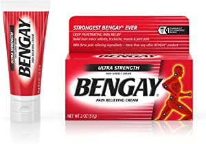 Bengay Ultra Strength, Pain Relieving Cream, Non-Greasy, 2 Ounce Pack of 4