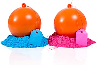 Gender Reveal Target Ball 2 Pack | Pink & Blue Set | Exploding Powder Shooting Balls | Gender Reveal Party Ideas | Ultimate Party Supplies