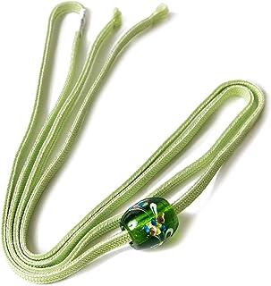 [でぃあじゃぱん] とんぼ玉 飾り紐 帯飾り 浴衣 帯締め マーブル ガラス細工 二分紐