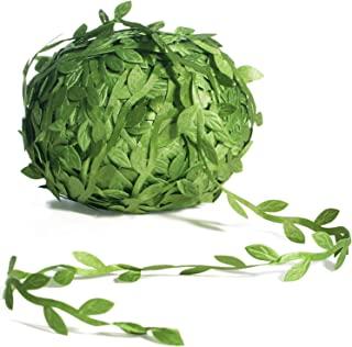 Naidiler 265 Ft Leaf Ribbon, Artificial Vines Leaves String Trim Ribbon Wild Jungle Botanical Greenery for Baby Shower Par...