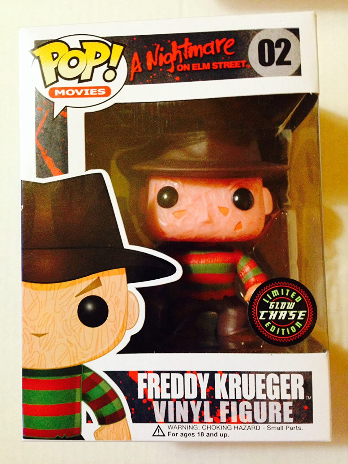 Funko Pop Halloween FREDDY KRUEGER  02 Vinyl Figure Chase Glow in the Dark by Funko