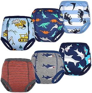Lot de 6 Pantalons d'entraînement pour bébé sous-vêtements d'entraînement pour Enfants Pantalon d'entraînement pour Pot so...