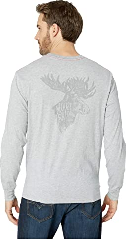 Vintage Moose Ski Camp Screen Print Long Sleeve Tee