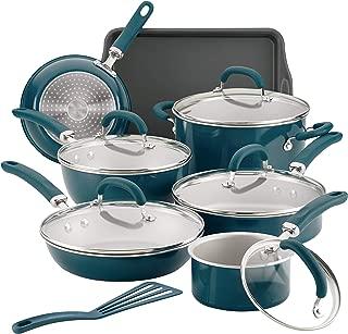 Best rachael ray 18 pc aluminum non stick cookware set Reviews