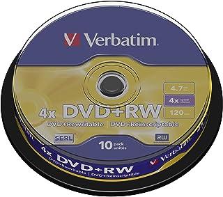 Verbatim – 10 x DVD RW – 4.7 Go (120 Minutes) 4X – Argent Mat – Spindle