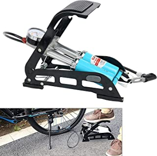 VULTERNIC Double Barrel Air Foot Pump for Car Motorcycle Bike Tires Foot Air Pump Inflator