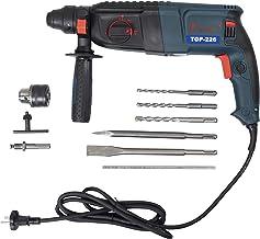 KHADIJA TIGER TGP-226 800WATTS 26MM Reversible Rotary Hammer with 13mm drill chuck, key, sds adapter, 3 hammer bits and 2 ...
