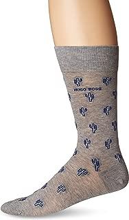 Men's Cactus Pattern Dress Sock, silver, 10-13