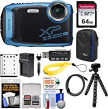 Fujifilm FinePix XP140 Shock & Waterproof Wi-Fi Digital Camera (Sky Blue) with 64GB Card + Battery + Charger + Case + Tripod + Kit