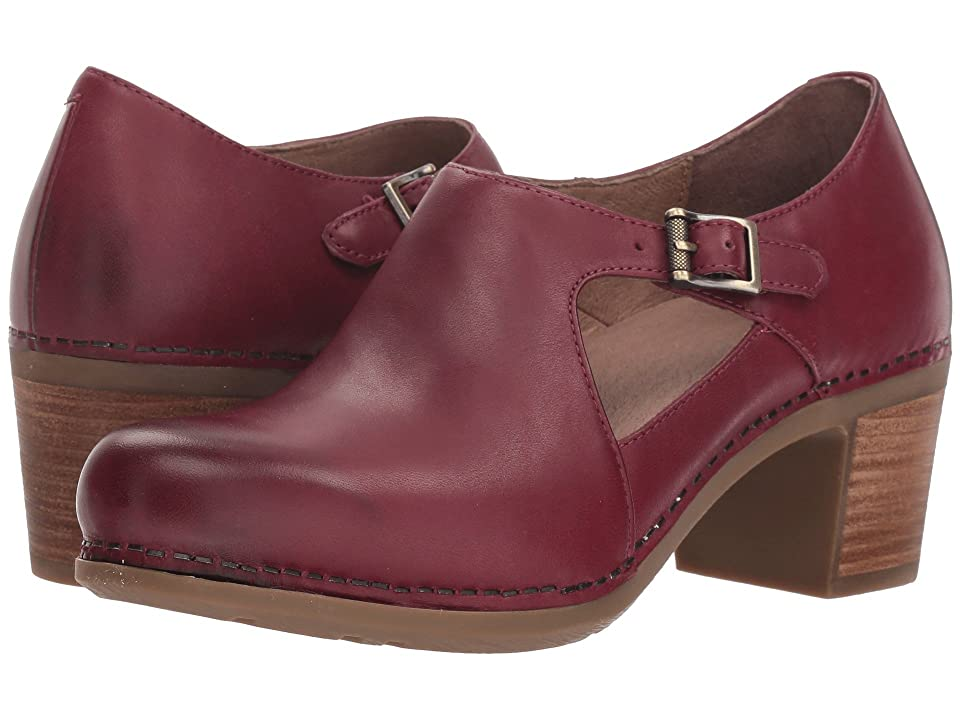 Dansko Hollie (Wine Burnished Calf) Women