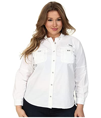 Columbia Plus Size Bahamatm Long Sleeve (White) Women
