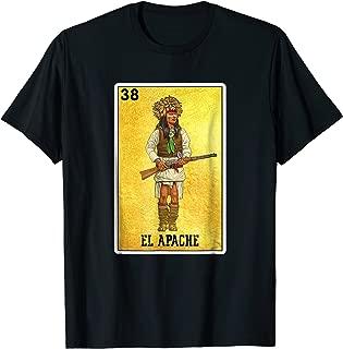 El Apache Indian Warrior Loteria T Shirt Native Americans