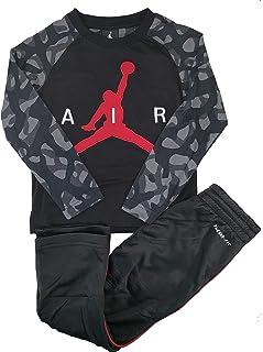 Jordan Little Boys' 2-Piece Activewear Set Graphic T-Shirt & Therma FitTrack Pants (4) Black
