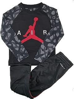 Jordan Little Boys' 2-Piece Activewear Set Graphic T-Shirt & Therma FitTrack Pants