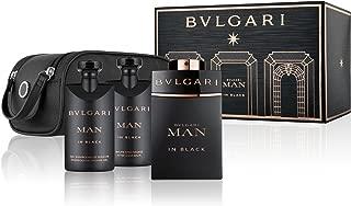 Bvlgari Man In Black Gift Set (Eau de Parfum100ml+SSG75ml+ASB75ml+Pouch)(86517)