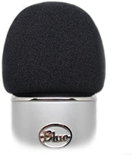 Foam Windscreen for Blue Yeti - Can Also Cover Other Large Microphones such as MXL, Audio Technica and more - Made from a Quality Sponge Material to Act as a Pop Filter for your Mic (Black)