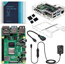 Vilros Raspberry Pi 4 Basic Kit with Dual Cover Clear Case (4GB)
