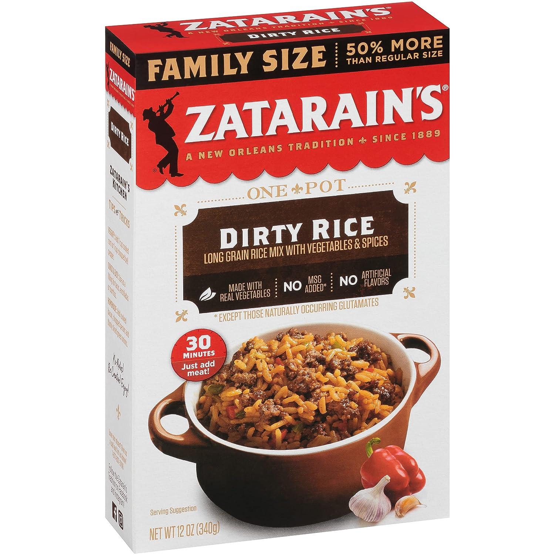 Zatarain's Dirty Rice Family Size oz Case specialty shop of Trust 12