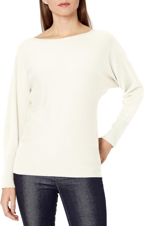 Amazon Brand - セール商品 Lark Ro Women's Long ◆セール特価品◆ Sleeve Bateau Sweater Neck