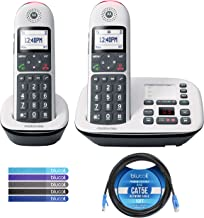 $64 » Motorola CD5012 DECT 6.0 Cordless Phone with Digital Answering Machine, Call Block, and 10dB Amplification (2-Pack) Bundle...