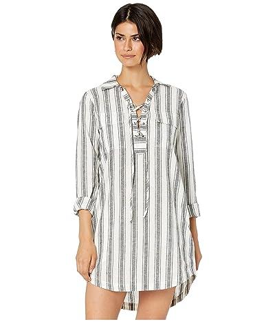 Sanctuary Staycation Lace-Up Dress (Twilight Stripe) Women