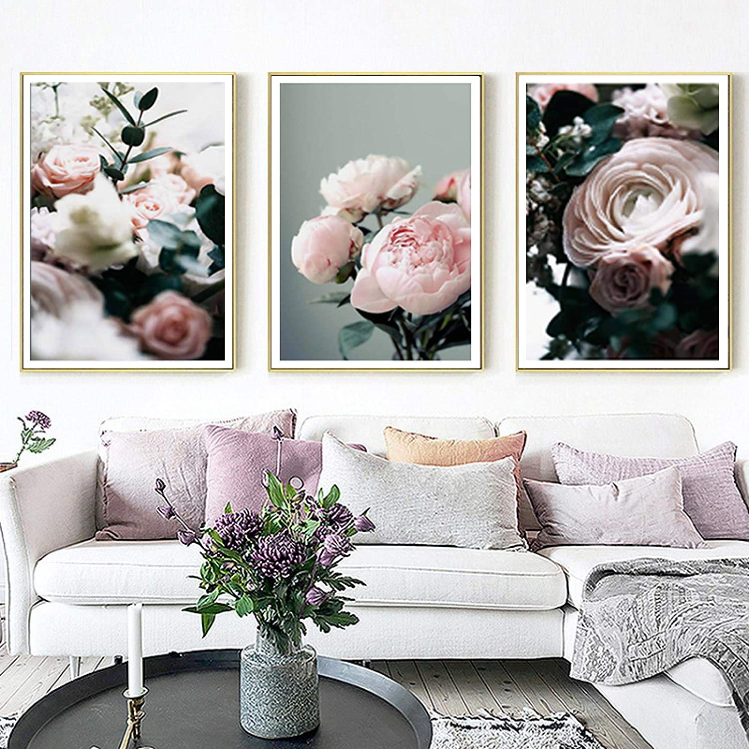 Ranking TOP20 Sunsightly Canvas Wall Art Modern Floral Peonies Painting Japan Maker New