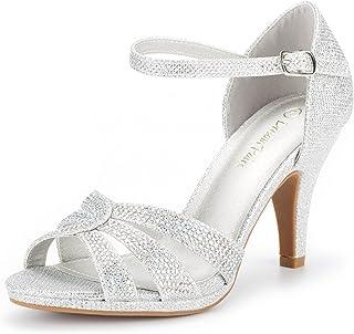 e06120cf894 DREAM PAIRS Women s Amore Fashion Stilettos Open Toe Pump Heel Sandals